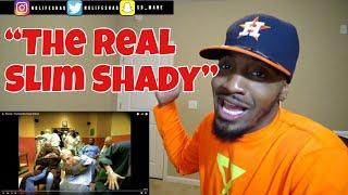 I swear MGK stood up lol! | Eminem - The Real Slim Shady | REACTION