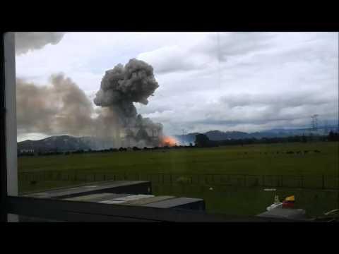Explosión en fábrica de pólvora