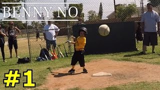 4 YEAR OLD AIMS FOR MY HEAD | BENNY NO | COACH PITCH/TEE BALL SERIES #1