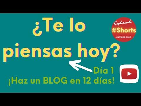 Haz un BLOG en 12 días [DÍA 1] ¡¡piénsatelo!! #Shorts
