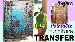 Thrifted & Up Cycled How Paint An Ombre Furniture Finish & Rub On Transfer From IOD