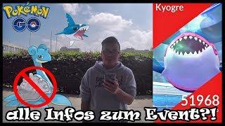 SHINY KYOGRE ist da?! alle Infos rund um das Wasser Event! Pokemon Go!