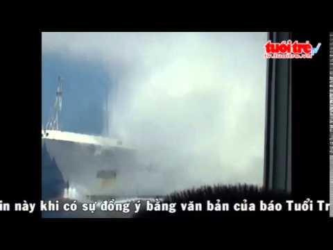 clip rõ nét về việc Trung Quốc bắn vòi nước vào tàu Việt Nam