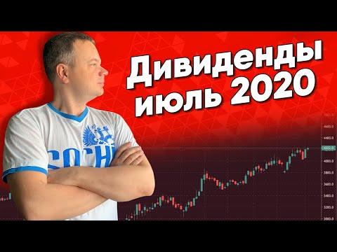 ДИВИДЕНДЫ ПО АКЦИЯМ - ИЮЛЬ 2020