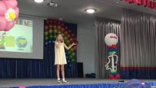 Данэлия Тулешова - выпускной 4 Д класса в школе Tamos education