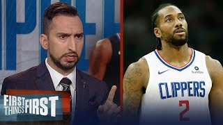 Kawhi Leonard is absolutely costing Clippers wins while load managing | NBA | FIRST THINGS FIRST