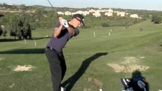 Alex Noren - Golf swing in Slow motion, Iron (Down the line)