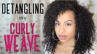 Storytime - Detangling My Curly Weave