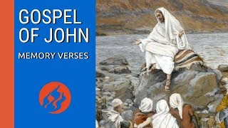 The Book Of John Bible Memory Verses | Scripture Memory Verses From The Gospel