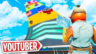This YOUTUBER Deathrun has NEW LEVELS! *TROLLED* (Fortnite Creative Mode)