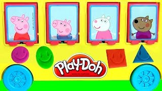 Play Doh Starter Set Using Peppa Pig School Bus
