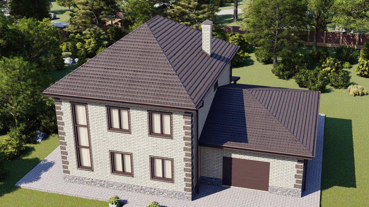Проект двухэтажного дома 238 м2 с раздельной кухней и гостиной