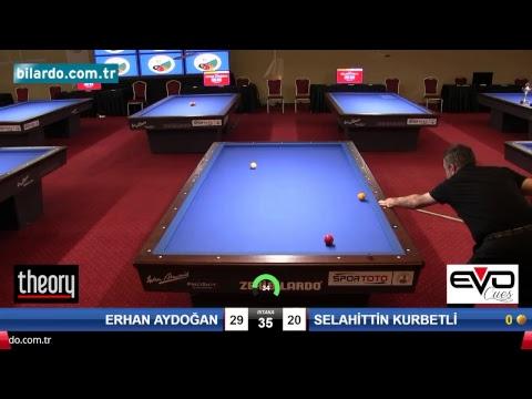 ERHAN AYDOĞAN & SELAHİTTİN KURBETLİ Bilardo Maçı - 2018 VETERANLAR 1.ETAP -Yarı Final
