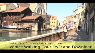 preview picture of video 'Venice Walking Tour Treadmill Scenery Video'