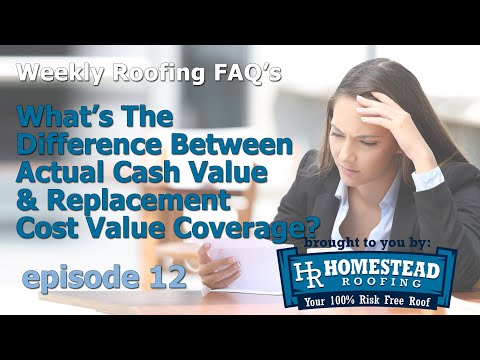 Most homeowners have Replacement Cost Value (RCV) insurance coverage for wind and hail damage on their homes, but more and more insurance companies are transitioning their policies to Actual Cash Value (ACV) coverage.