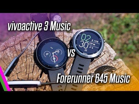 vivoactive 3 Music VS Forerunner 645 Music COMPARISON (Best Mid-Range Garmin)