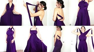 +8 New Ways To Wear An  INFINITY/CONVERTIBLE DRESS | DRESSANDCHARM.COM