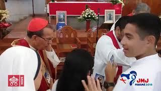 Peregrinos salvadoreños reciben bendición antes de partir a JMJ 2019-01-22