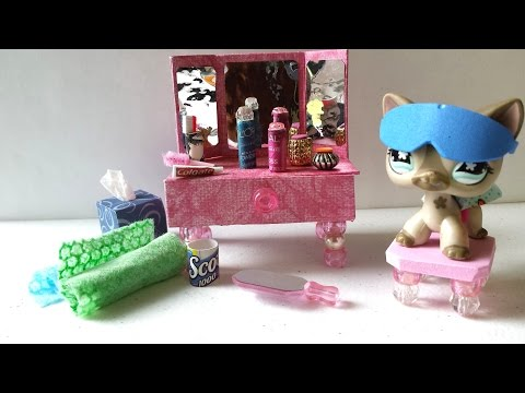 How to Make an LPS Vanity and Bathroom Accessories: Doll DIY