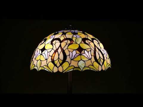 Tiffany Stil Stehlampe Motiv Blumen-Ornament Artikel-Nr.