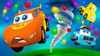 Little City Cars Heroes and Huge Color Ball Tornado - part 1