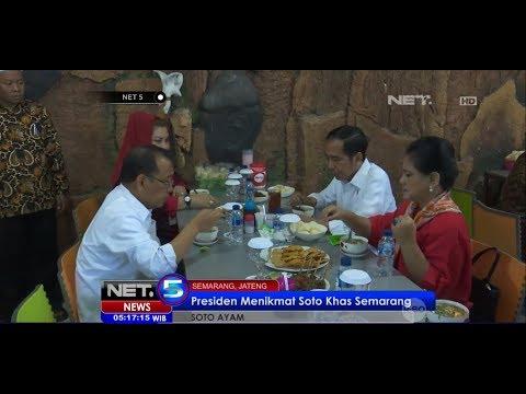 Kunjungan Kerja ke Semarang, Presiden Jokowi Nikmati Soto Khas Semarang - NET 5