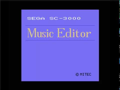 Sega Music Editor -  Sega SC-3000
