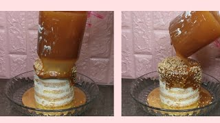 Volcano Cake / Pull Out Cake Tutorial In Urdu - Baking With Amna
