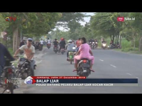 Terciduk Polisi, Pelaku Balap Liar di Jombang Kocar Kacir Ketakutan - BIM 27/12
