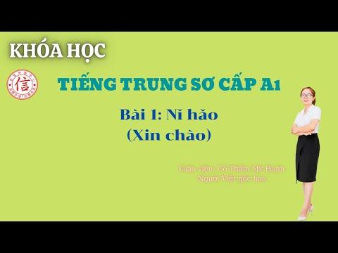 Khóa Học Tiếng Trung Sơ Cấp A1 - Bài 1: 你好 (Xin chào)