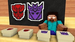 Monster School: Unboxing TRANSFORMERS Presents from Herobrine - Minecraft Animation