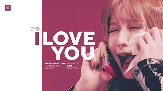 EXID - I LOVE YOU Line Distribution (Color Coded) | 이엑스아이디 - 알러뷰