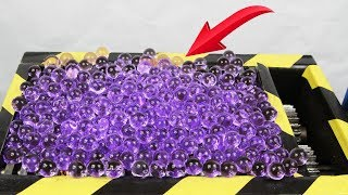 Experiment Shredding 1000 Orbeez And Toys Satisfying | The Crusher