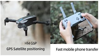New H14 GPS RC Drone Drone With 4K Dual HD ESC Camera 5G Optical Flow Quadcopter WiFi FPV Foldable