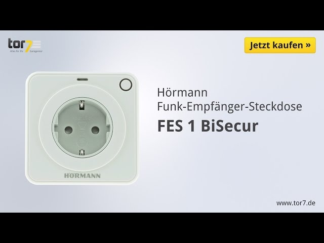 Produktvideo Hörmann Funk-Empfänger-Steckdose FES 1, BiSecur