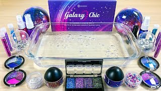 "Season ""Theme"" Series #14 ""GALAXY"" / Mixing eyeshadow and glitter into Clear Slime"