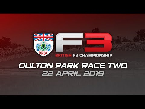 BRDC British F3 Championship, race two, Oulton Park 2019