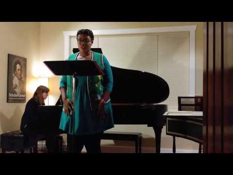 """Befreit"" by Richard Strauss Zoe McCray, soprano Natalie Doughty, piano"