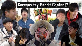 Ang reaksyon ng mga Koreano sa Pancit Canton!?