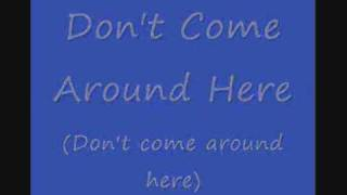 Don't Come Around Here - Rod Stewart & Helicopter Girl (with lyrics)