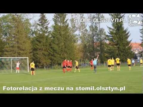 Bramki ze spotkania WPP: Tęcza Biskupiec - Stomil II Olsztyn 0:4
