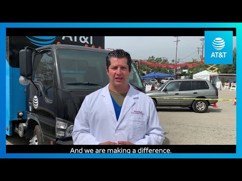 AT&T Provides WiFi to a Mobile COVID-19 Testing Site-YoutubeVideoText