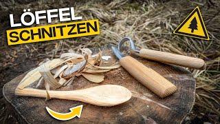 Holzlöffel schnitzen mit Amazon Schnitzset für unter 20€
