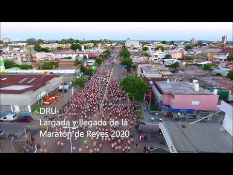 La largada y la llegada de la Maratón de Reyes edición 2020