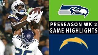 Seahawks vs. Chargers Highlights | NFL 2018 Preseason Week 2