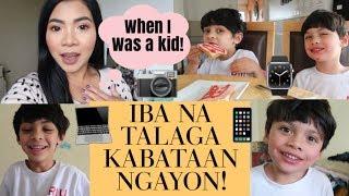 Filipino British Family: PURO SILA COMPUTER! IBA NA TALAGA NEW GENERATION! NAGKWENTO NG CHILDHOOD!