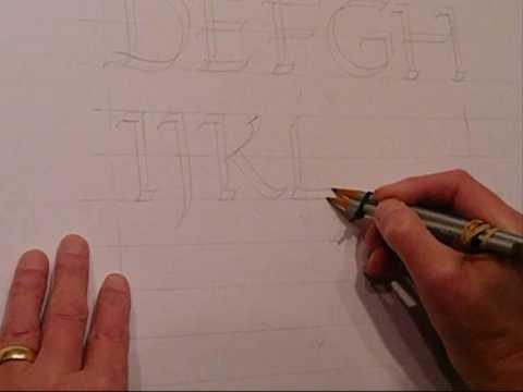 Calligradoodles 0003 How To Write A Roman Alphabet With