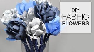 DIY Fabric Flowers (Tutorial)