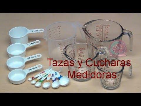 Cómo Usar Tazas, Jarras y Cucharas Medidoras - Equivalencias │Club de Reposteria