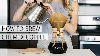 HOW TO BREW CHEMEX COFFEE | a simple chemex brewing guide